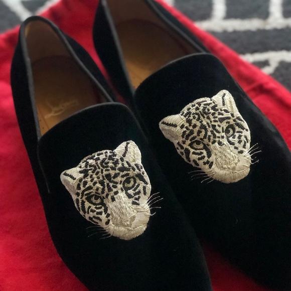 buy popular 402ac 513cf Christian Louboutin Men's Velvet Loafers